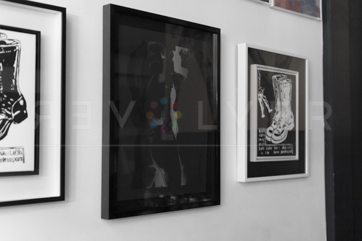 Andy Warhol - Love F.S. II 311 Unique framed jpg