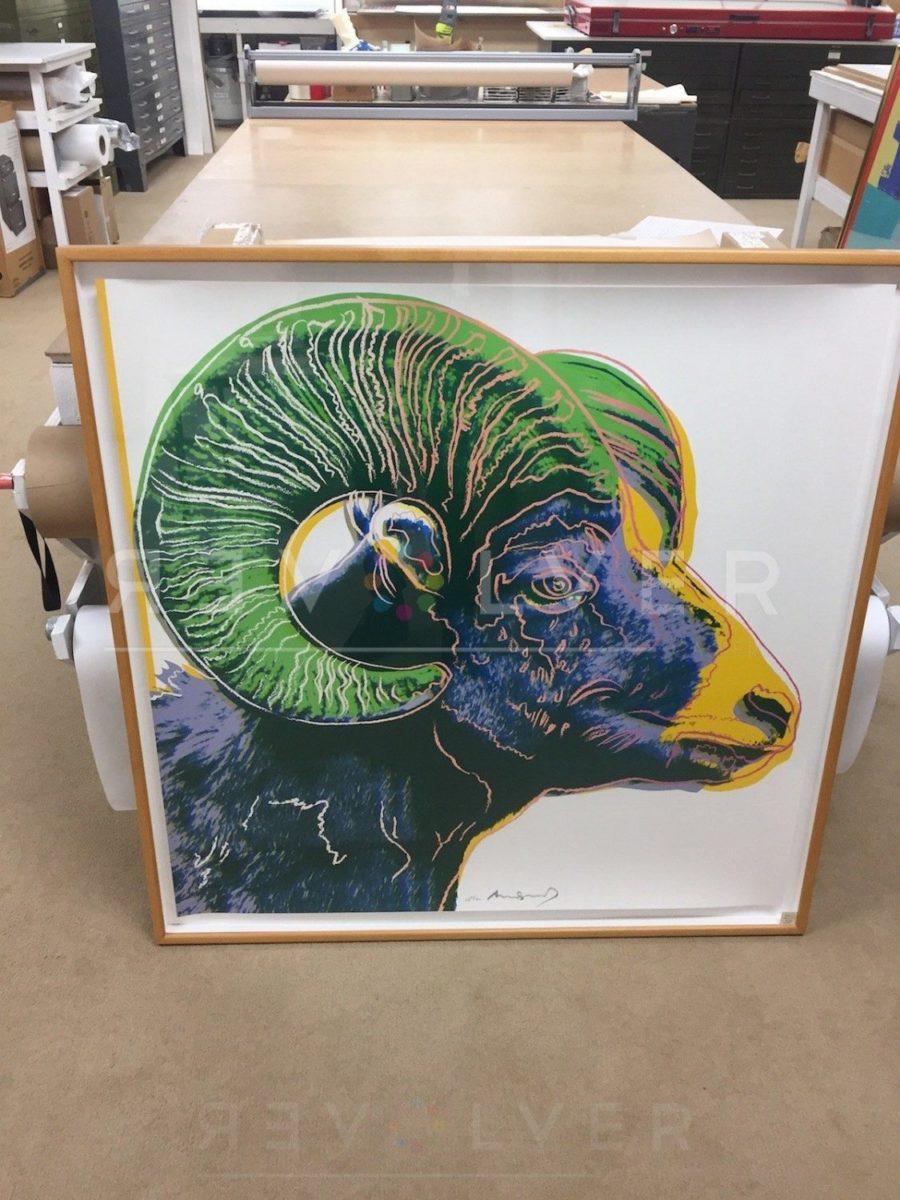 Andy Warhol - Bighorn Ram F.S. II 302 framed jpg