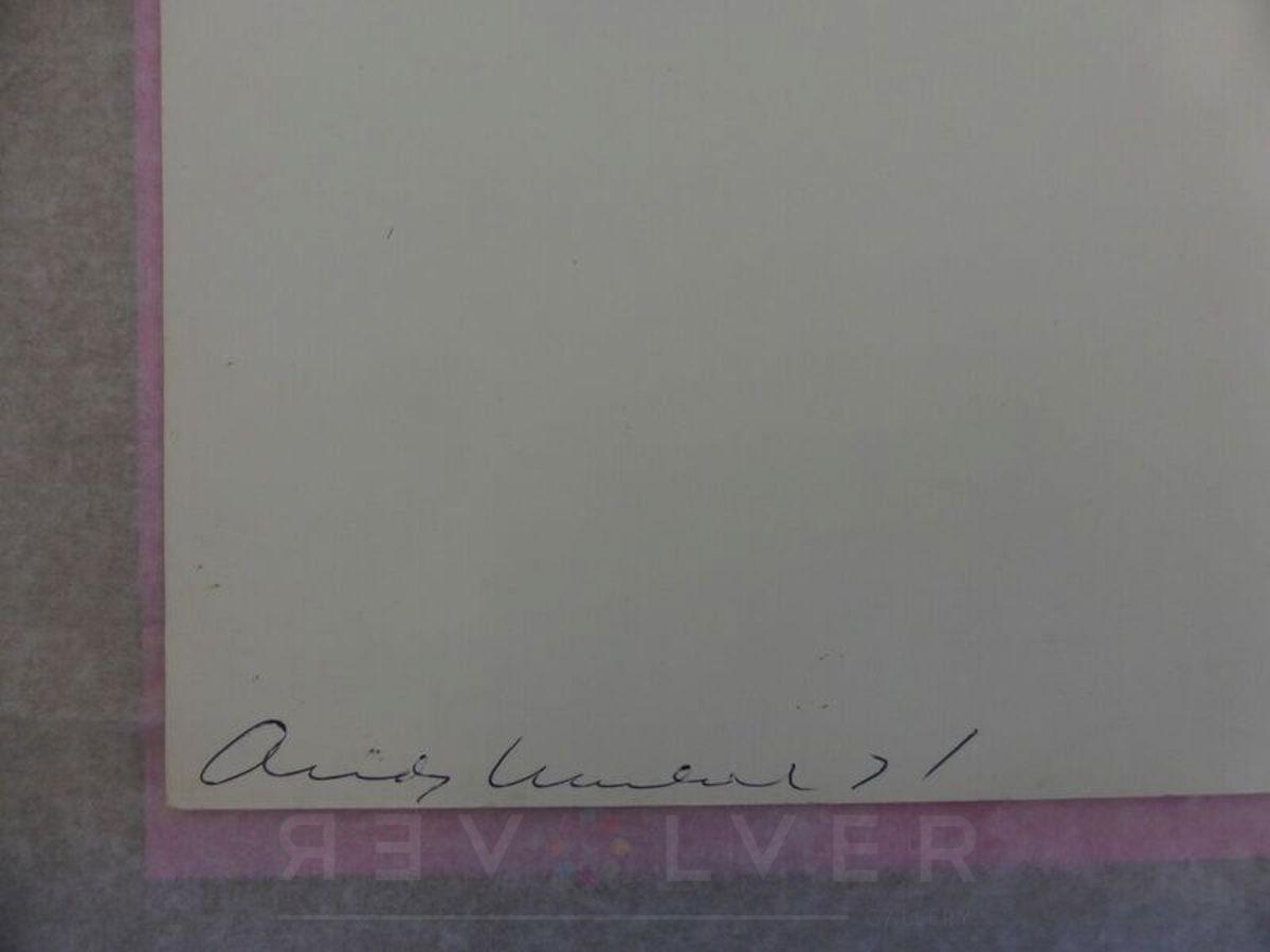 Andy Warhol - Electric Chair F.S. II 81 sig blur jpg