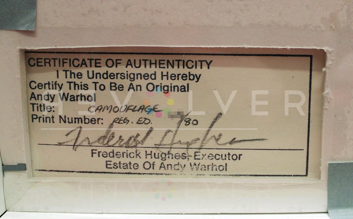 Andy Warhol - Camouflage F.S. II 412 sig blur jpg