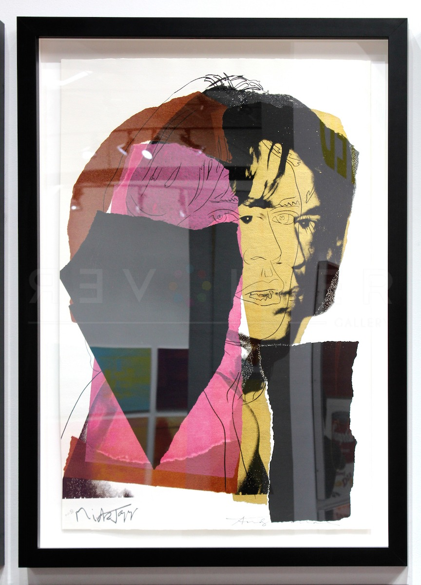 Andy Warhol - Mick Jagger F.S. II 139 framed jpg