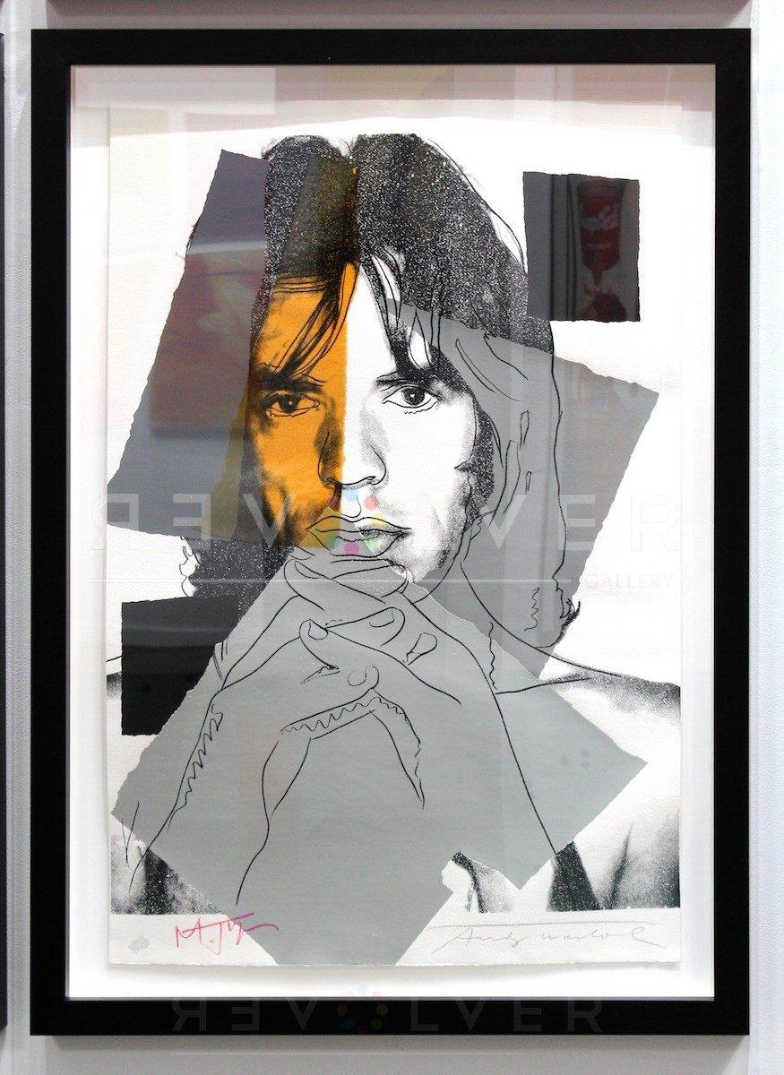 Andy Warhol - Mick Jagger F.S. II 147 framed jpg