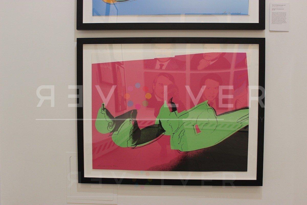 Andy Warhol - Space Fruit: Pears F.S. II 203 framed jpg