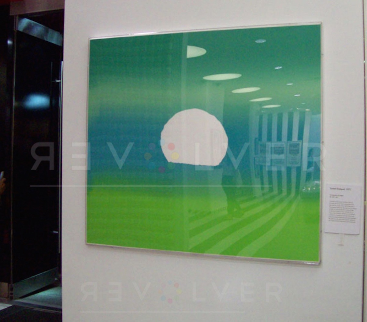 Andy Warhol - Sunset (Green) framed jpg