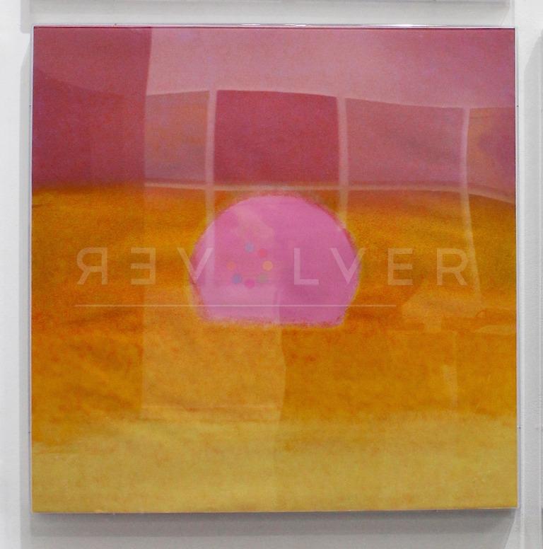 Andy Warhol - Sunset (Pink/Yellow) framed jpg
