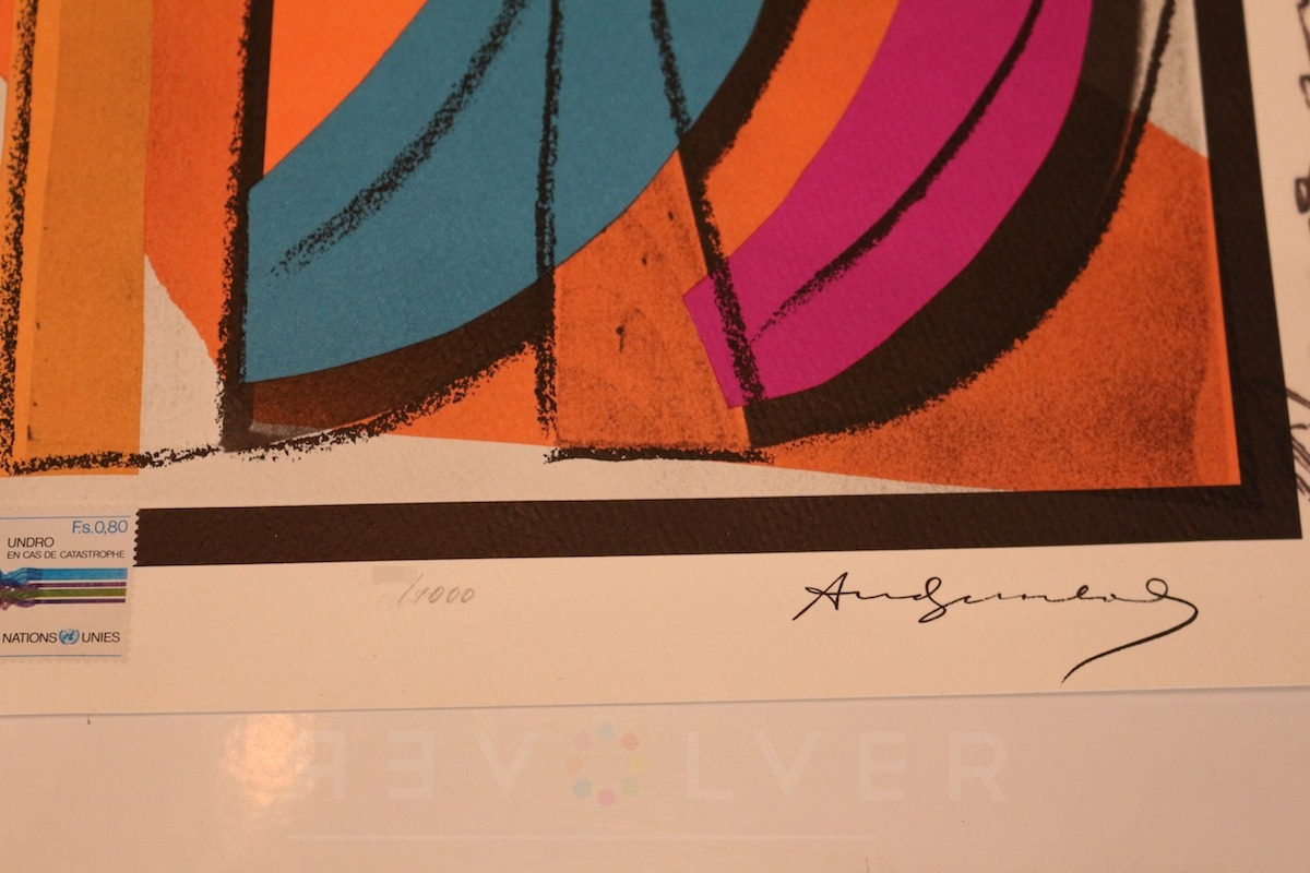Andy Warhol - UN Stamp F.S. II 185 sig blur jpg