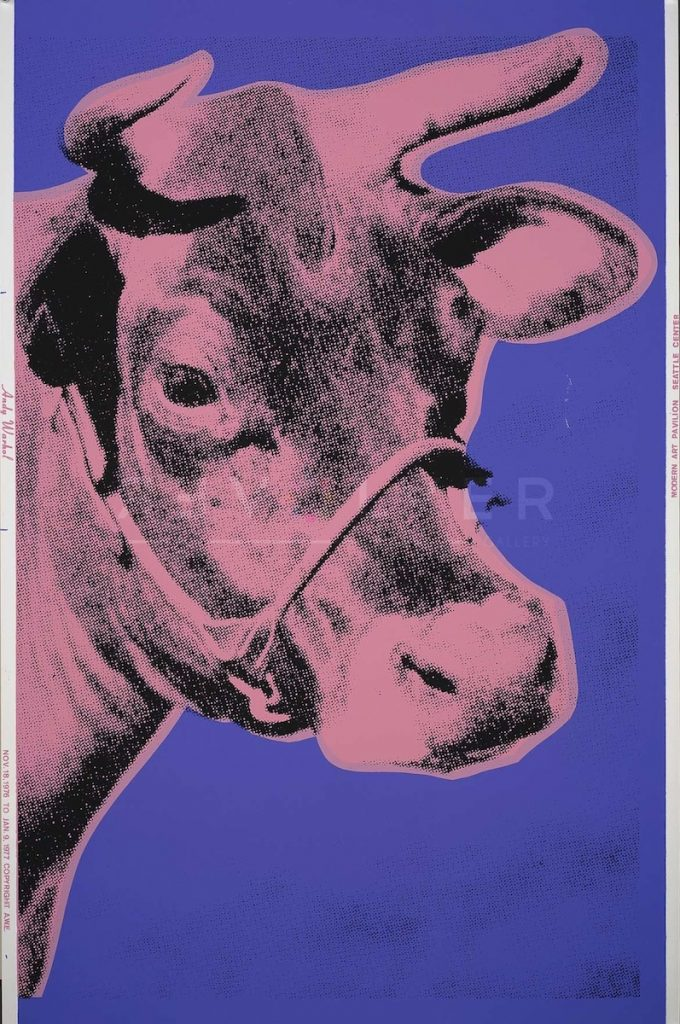 cow 12a signed by andy warhol