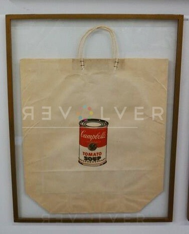 campbells soup can tomato shopping bag