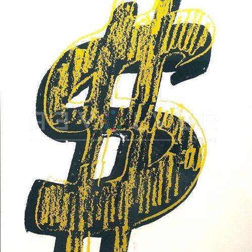 Andy Warhol – Dollar Sign Yellow