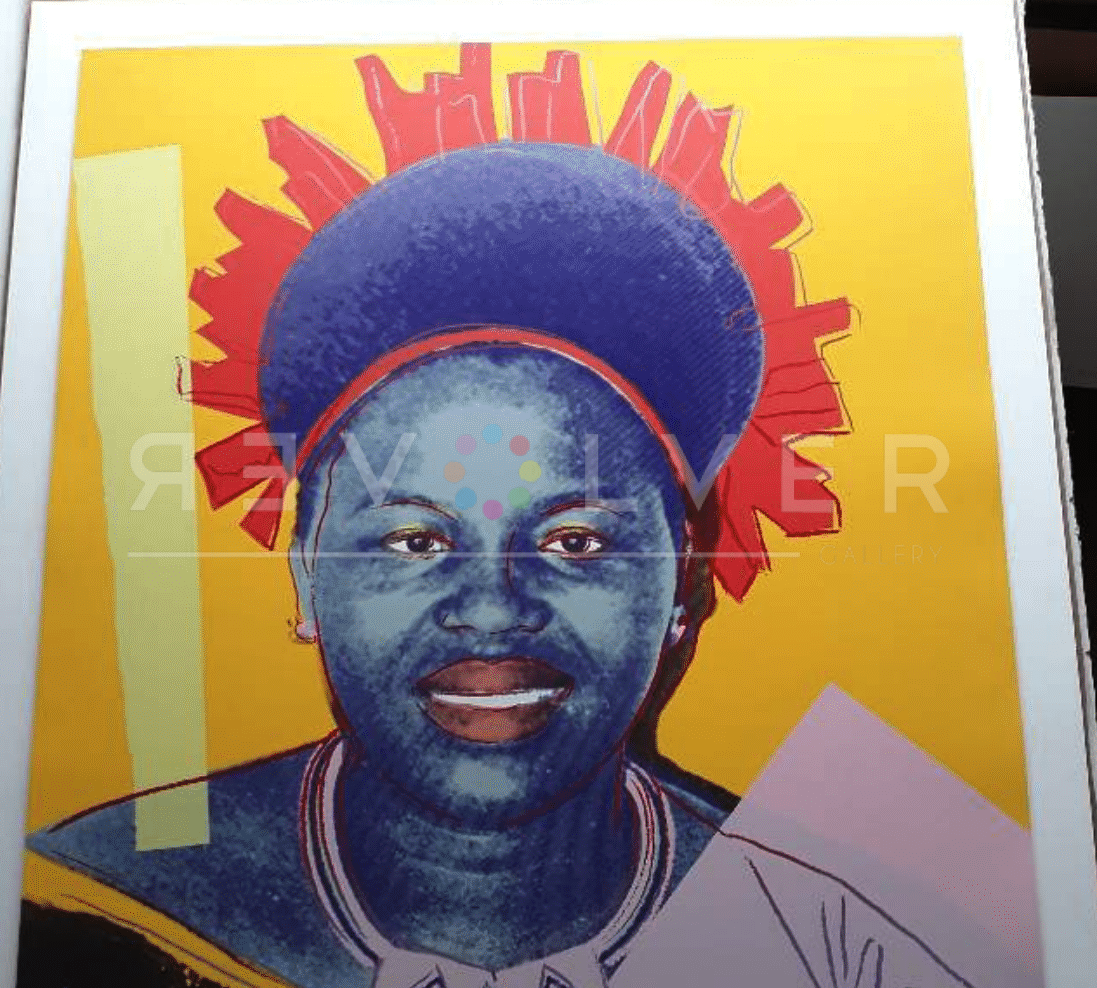 Andy Warhol Queen Ntombi Twala of Swaziland 349 (Trial Proof) screenprint out of frame.