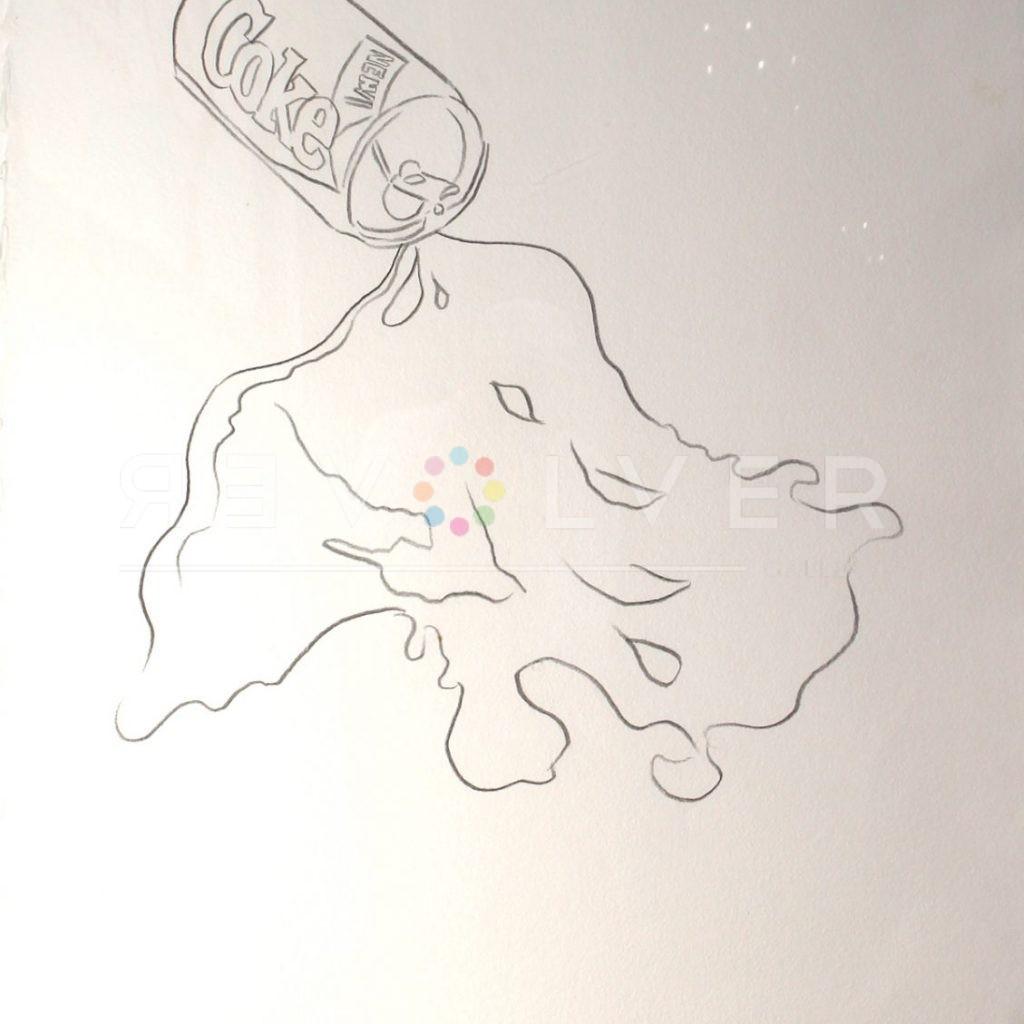 Andy Warhol - New Coke Drawing B44