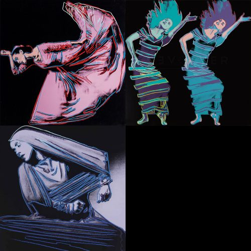 Andy Warhol Martha Graham Complete Portfolio showing all three prints. Stock image with Revolver gallery watermark.