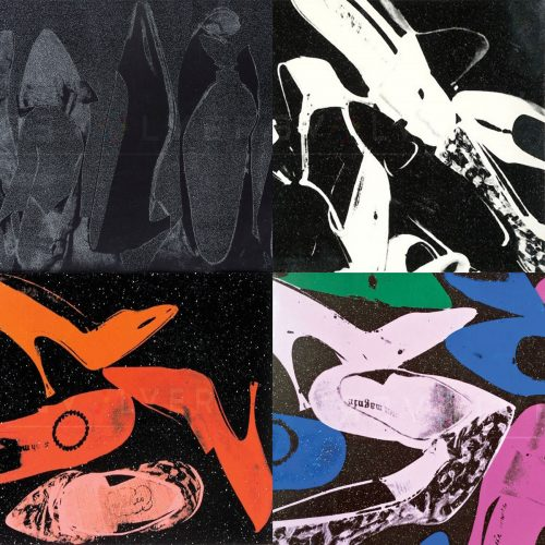 Four screenprints from Andy Warhol's Shoes portfolio.