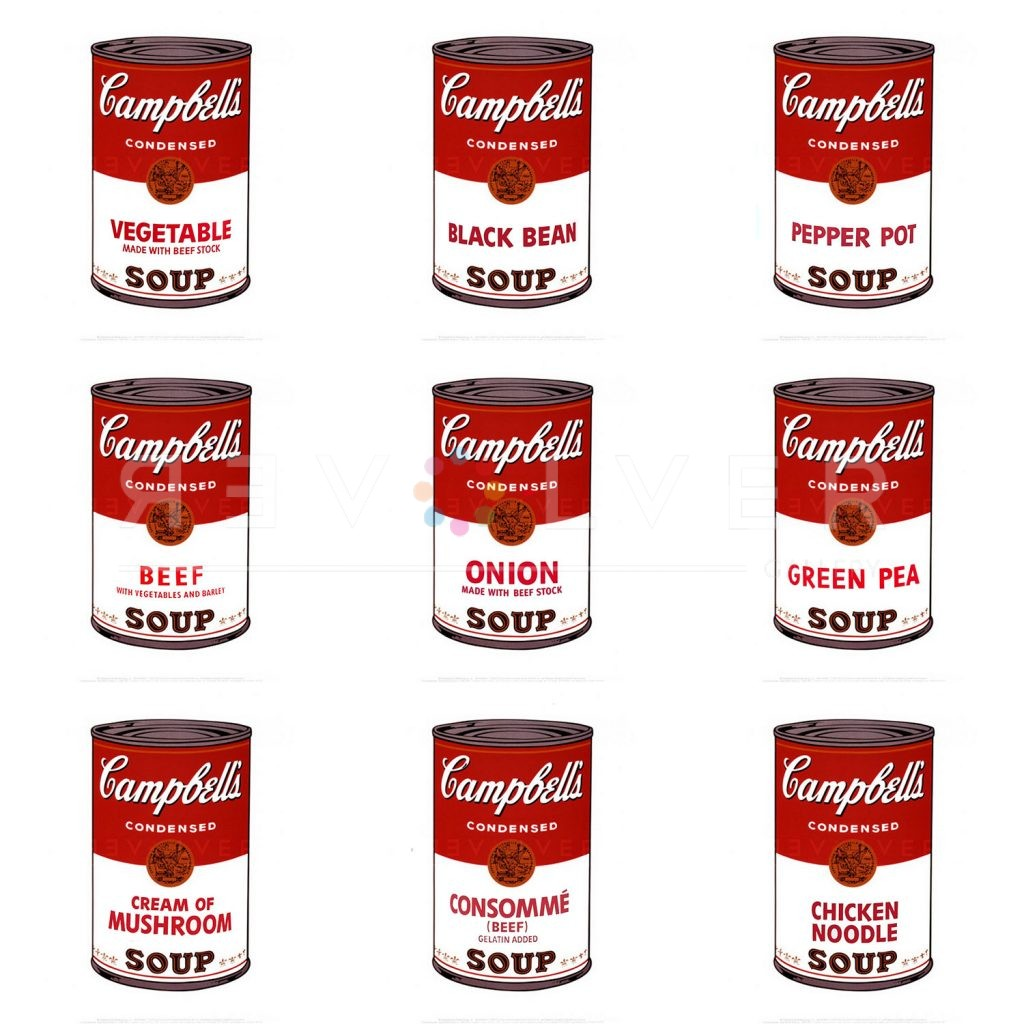 Picture of Campbell's Soup I Complete Portfolio, 1968, stock version, by Andy Warhol.
