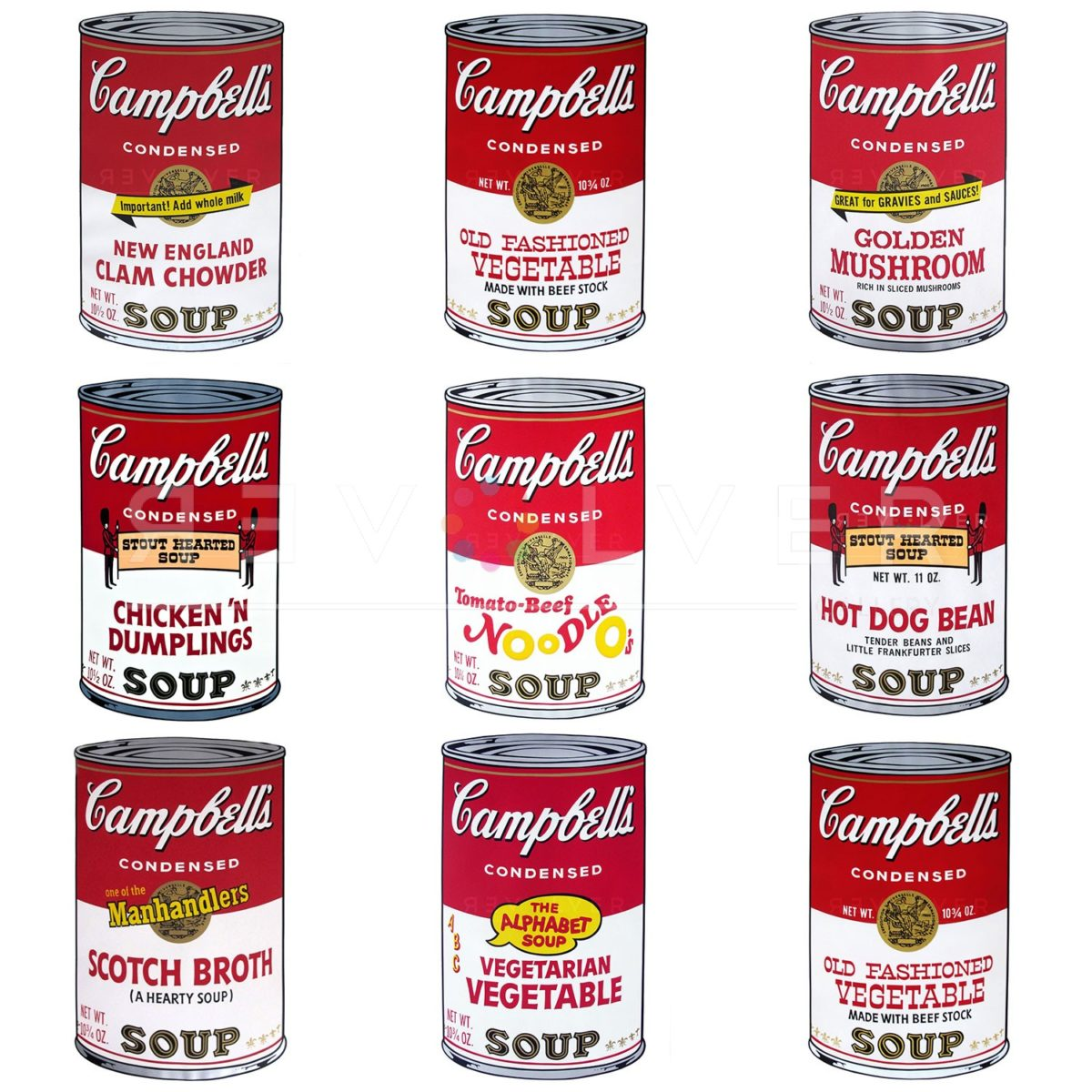 Picture of Campbell's Soup II Complete Portfolio, 1969, stock version, by Andy Warhol