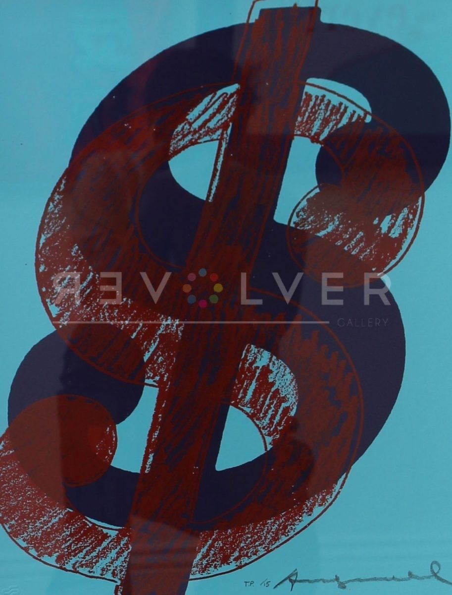 Andy Warhol Dollar Sign 275 Trial Proof stock image.