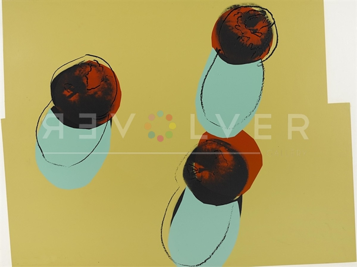 Andy Warhol Space Fruit: Apples 200 screenprint stock photo.