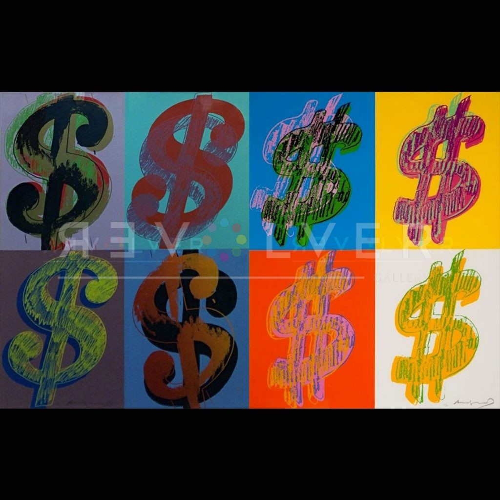 Andy Warhol Dollar Sign (Quadrant) Complete Portfolio stock image with Revolver gallery watermark.