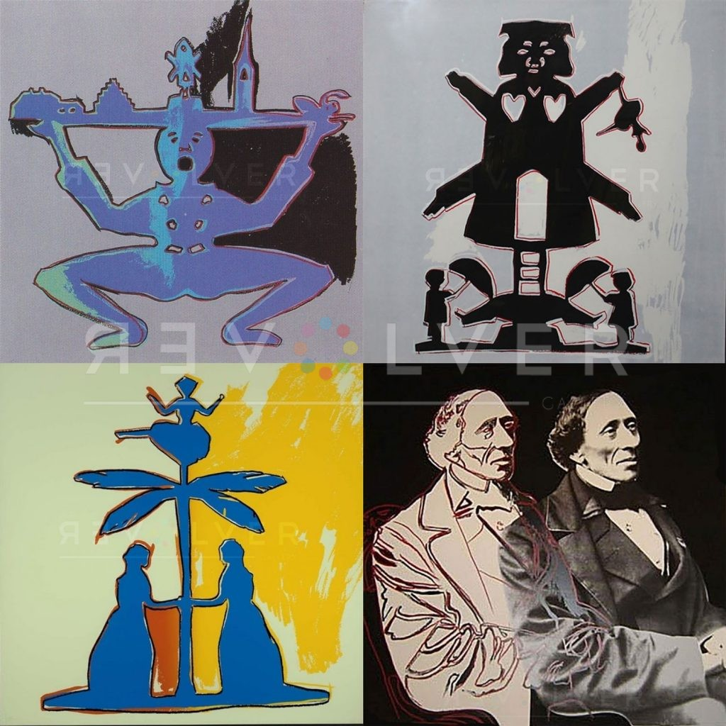 Andy Warhol Hans Christian Andersen Complete Portfolio I. All four images from the series, published in 1987.