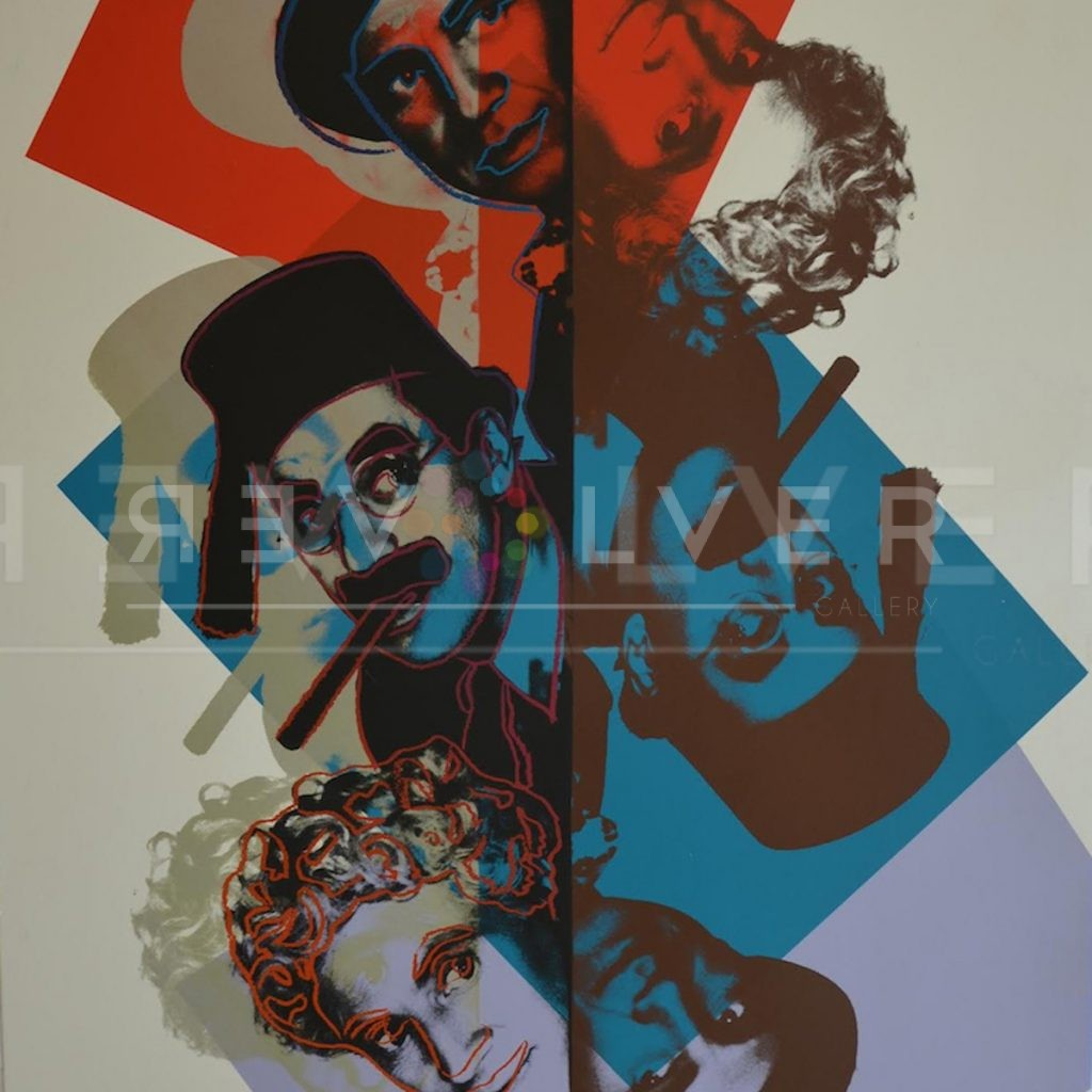 Stock photo of Marx Brothers 232 (trial proof) by Andy Warhol from Ten Portraits of Jews Series from 1980.