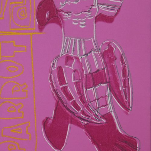 Picture of Toy Painting: Parrot, 1983, stock version, by Andy Warhol