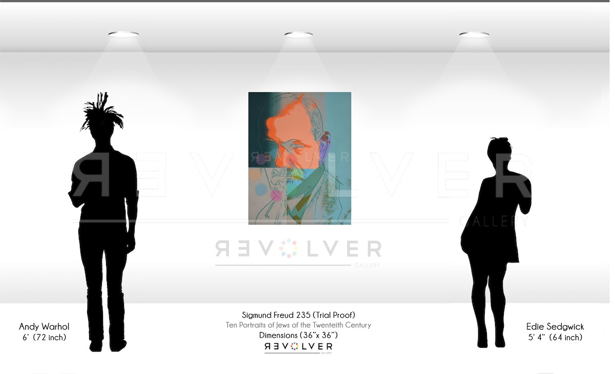 Picture of Sigmund Freud (FS II.235) (Trial Proof), 1980, by Andy Warhol; Andy and Edie Sedgwick Size Comparison.