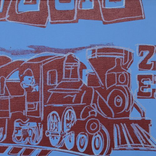 Picture of Toy Painting: Train, 1983, stock version, by Andy Warhol