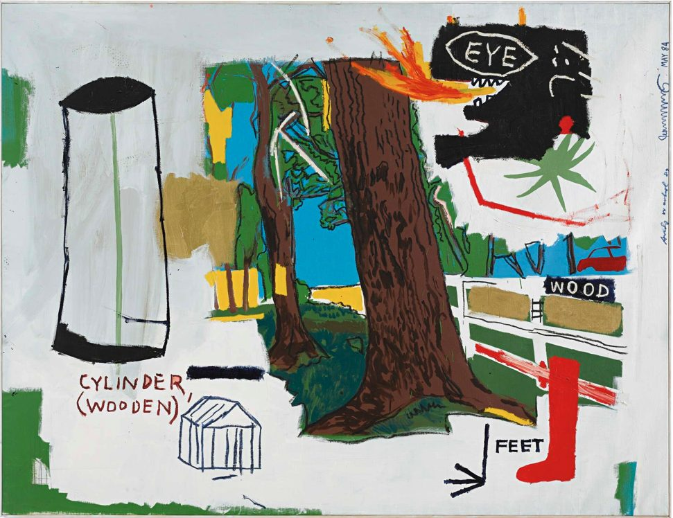 warhol Basquiat wood