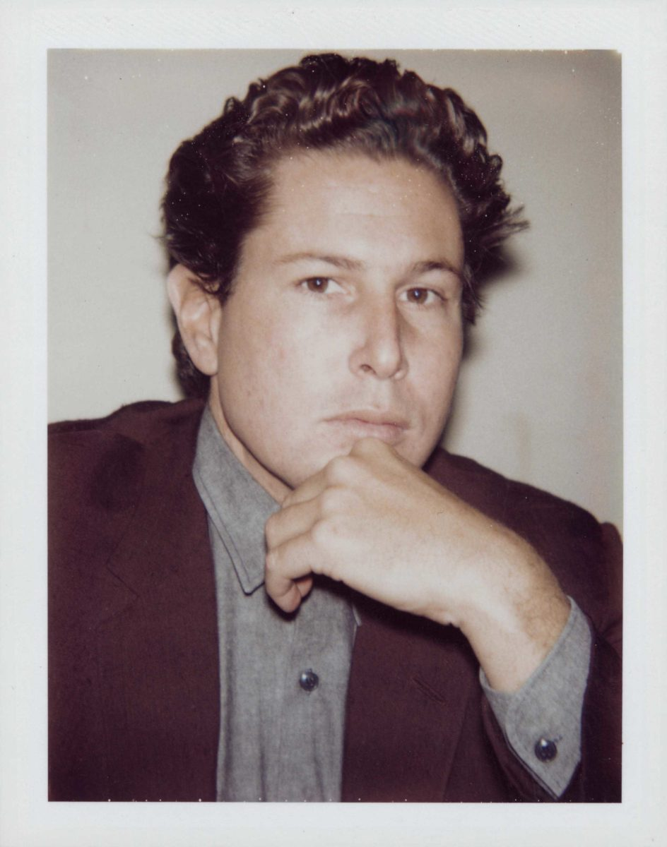 Julian Schnabel is a painter and a notable affiliate of Andy Warhol. The two artists created portraits of eachother in 1982.