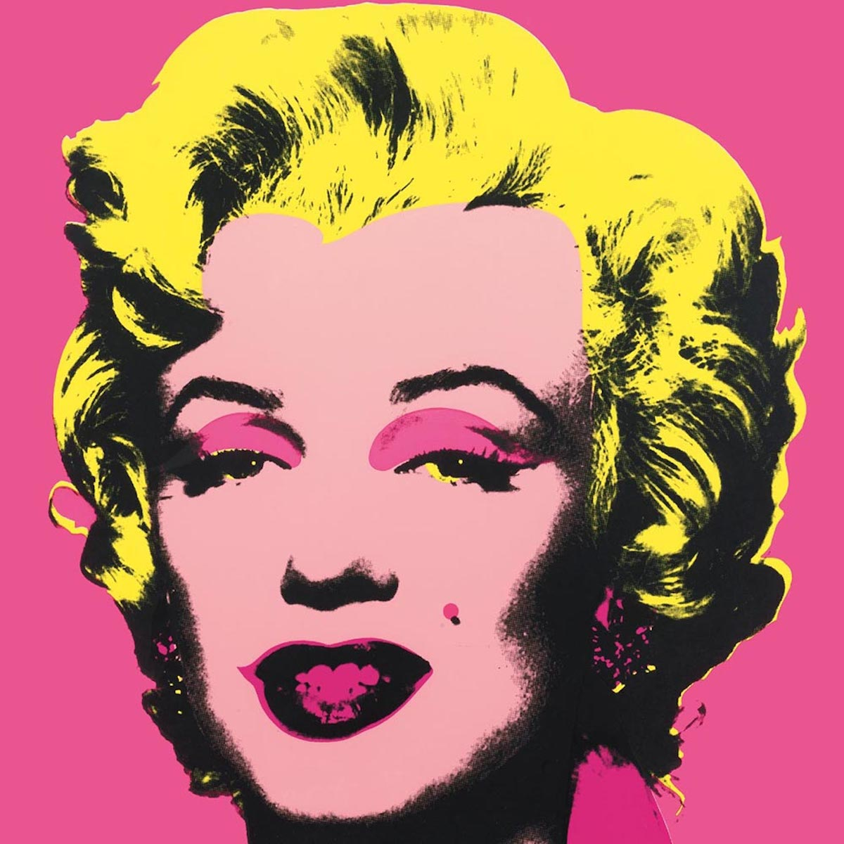 Marilyn 31 by Andy Warhol, basic scanned image.